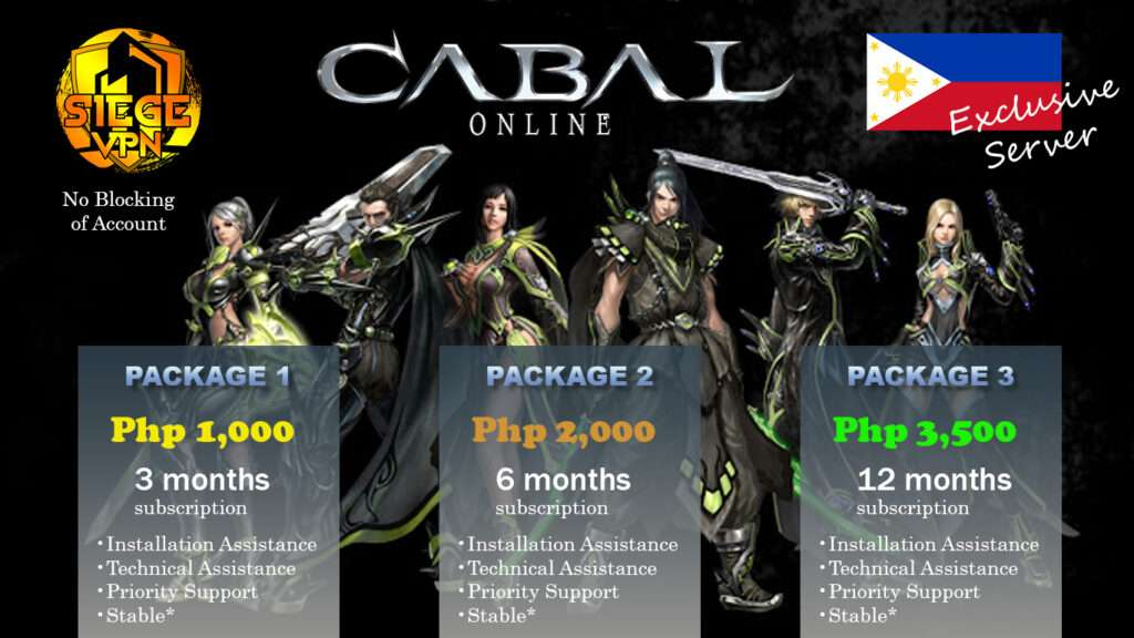 How to Play Cabal Philippines Abroad